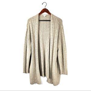 J. Jill long cardigan knit open front knit sweater